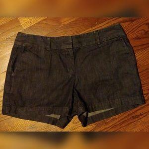 Loft Dark Riviera Denim Shorts
